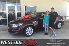 #HappyBirthday to Maria from Dennis Celespara at Westside Kia!