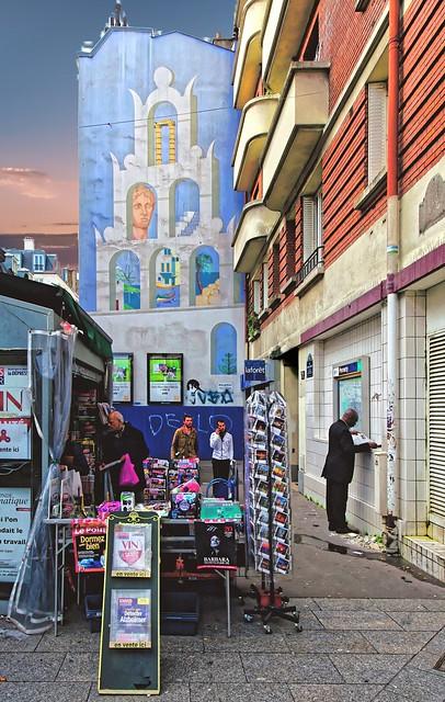 Façade colorée Quartier Pernety