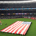 A giant American flag is unfurled at Yankee Stadium prior to Game 3 of the 2017 American League Championship Series. Shot with an iPhone 7 Plus.