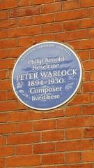 Photo of Peter Warlock blue plaque