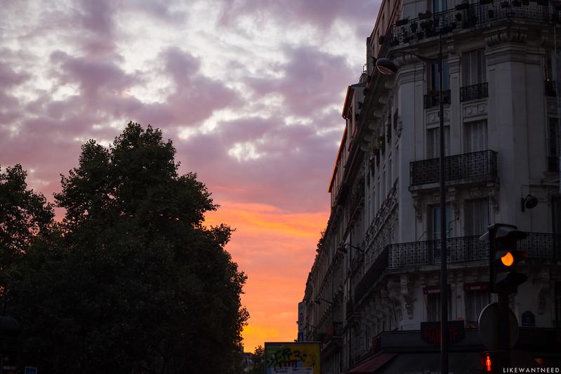 Sunset, Boulevard Clichy