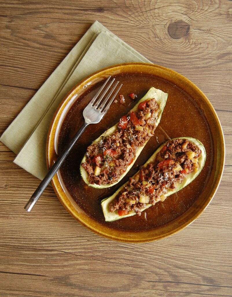 Stuffed zucchini / Barquinhas de abobrinha