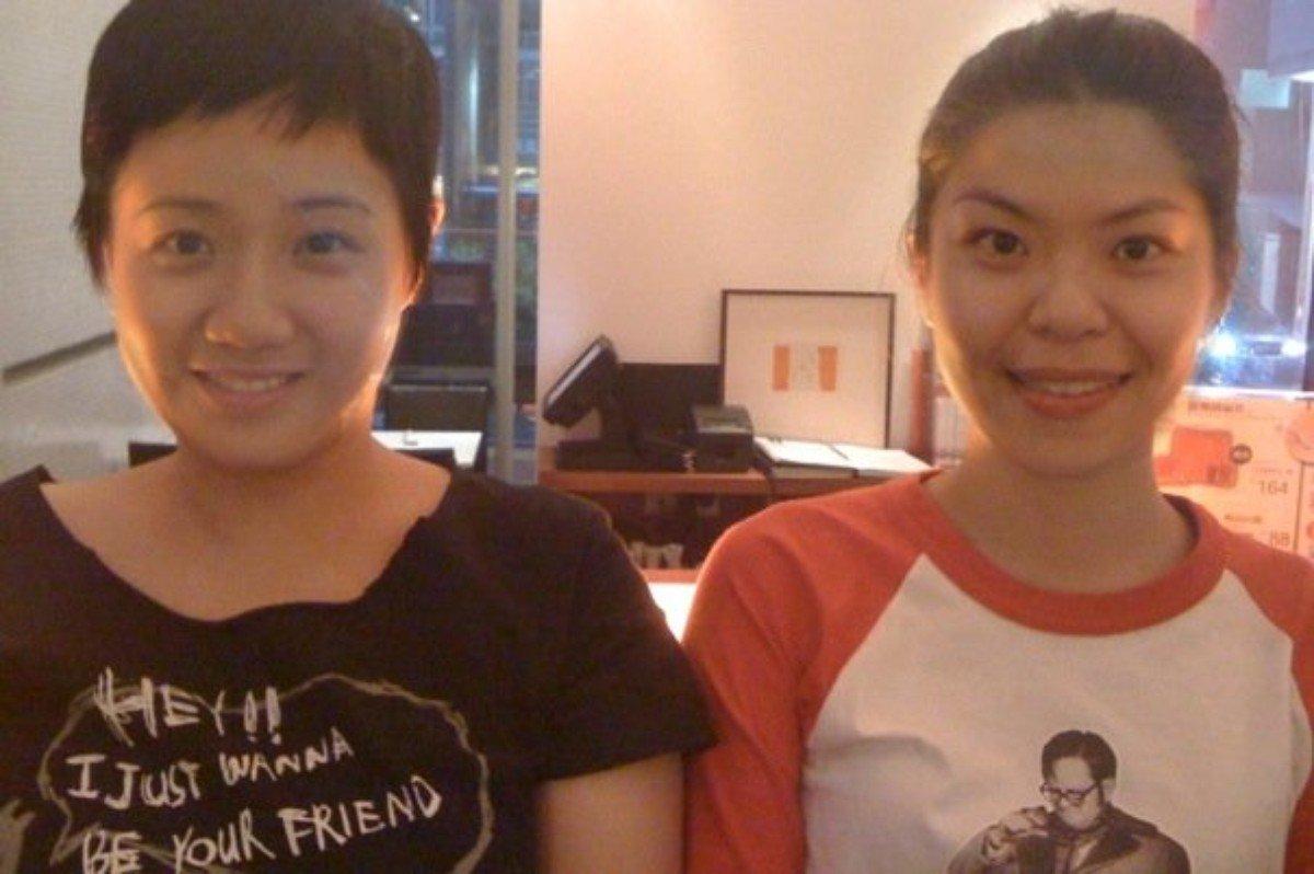 2009 年,at17 上載一張「假如我們交換了臉」的照片。(圖:at17 facebook)