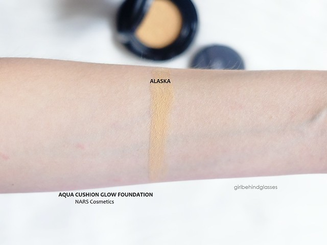 NARS Aqua Glow Cushion Foundation Alaska swatch