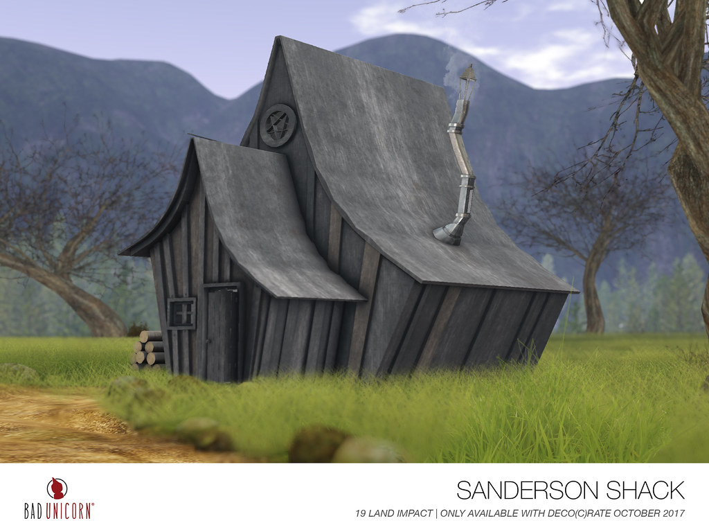 NEW! Sanderson Shack for Deco(c)rate October 2017!