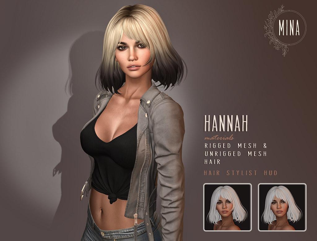 MINA Hair - Hannah for Hairology - TeleportHub.com Live!
