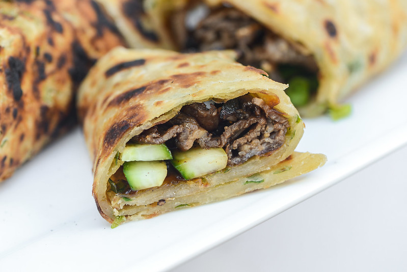 Scallion Pancake Beef Rolls