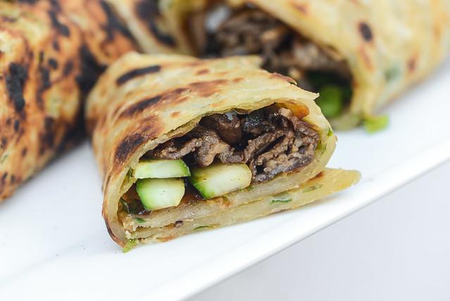 Scallion Pancake Beef Rolls