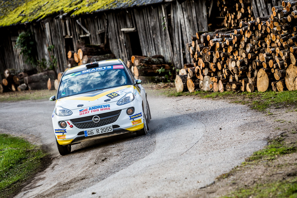 18 Ingram Chris and Whittock Ross, Opel Rallye Junior Team, Opel Adam R2 ERC Junior U27 action during the 2017 European Rally Championship ERC Liepaja rally,  from october 6 to 8, at Liepaja, Lettonie - Photo Thomas Fenetre / DPPI