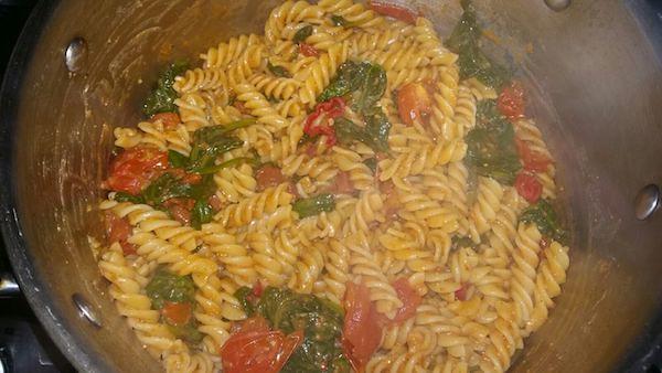 Spinach Chorizo red Pesto Fusilli4