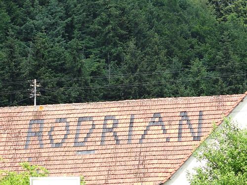 Reklame auf dem Dach