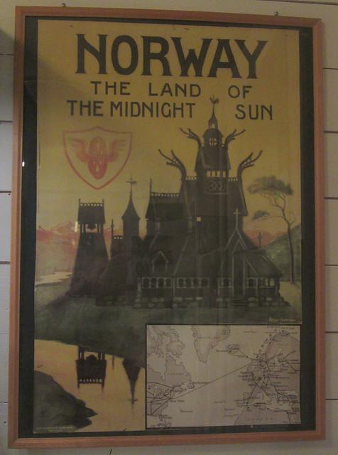 Old Railwat Poster, Flåmsbana Museum