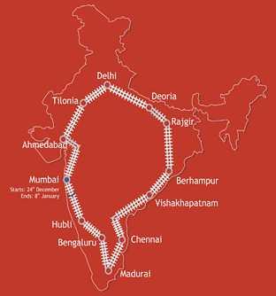 Jagriti Yatra Route Map