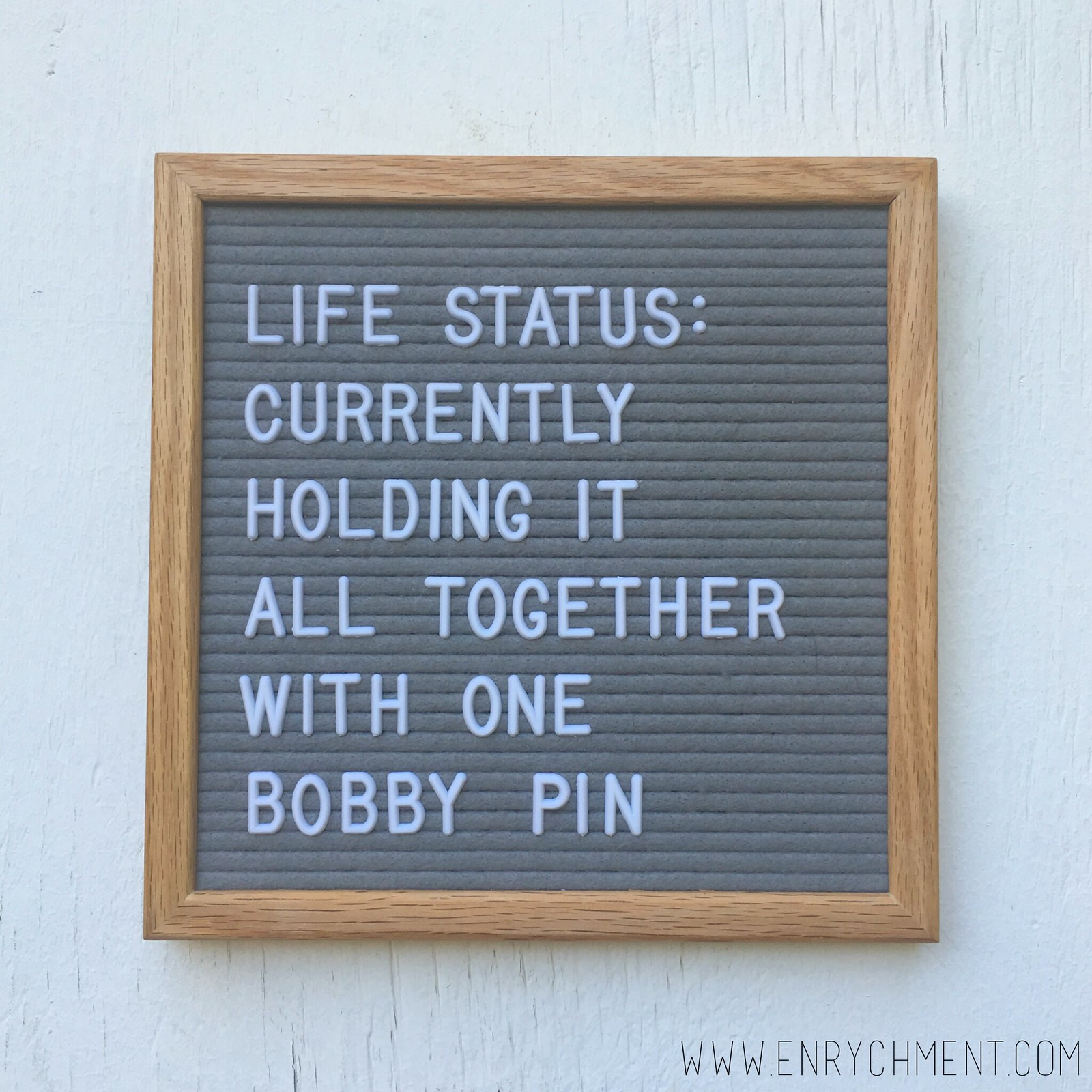 life status letterboard