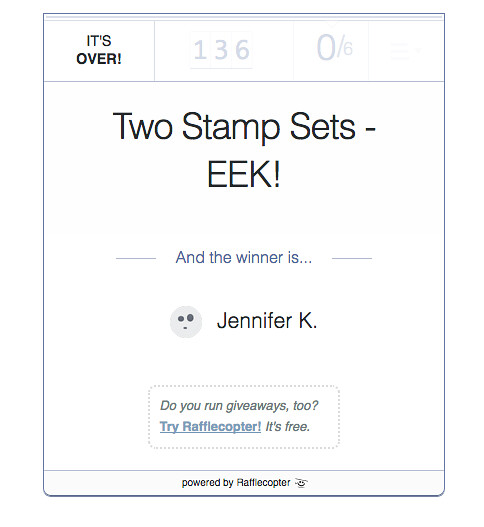 EEK Stamp Set Winner at From My Carolina Home