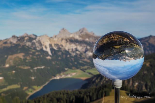Austria - Lake Haldensee in a Crystal Ball