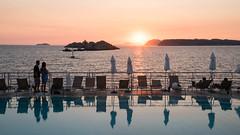 Swimming Pool Sunset at Hotel Dubrovnik Place - Dubrovnik, Croatia