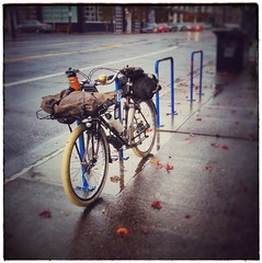The trusty rain bike. #rainbike #rainbiking #raleighcrestedbutte