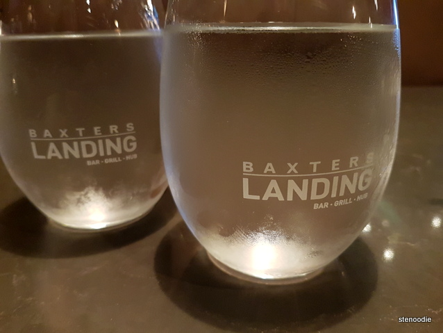 Baxters Landing water glasses