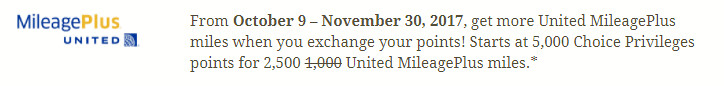 Choice Privileges Bonus Transfer to United