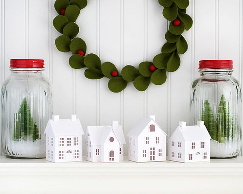DIY Putz Village Christmas Decorations by Holiday Spirits Decor