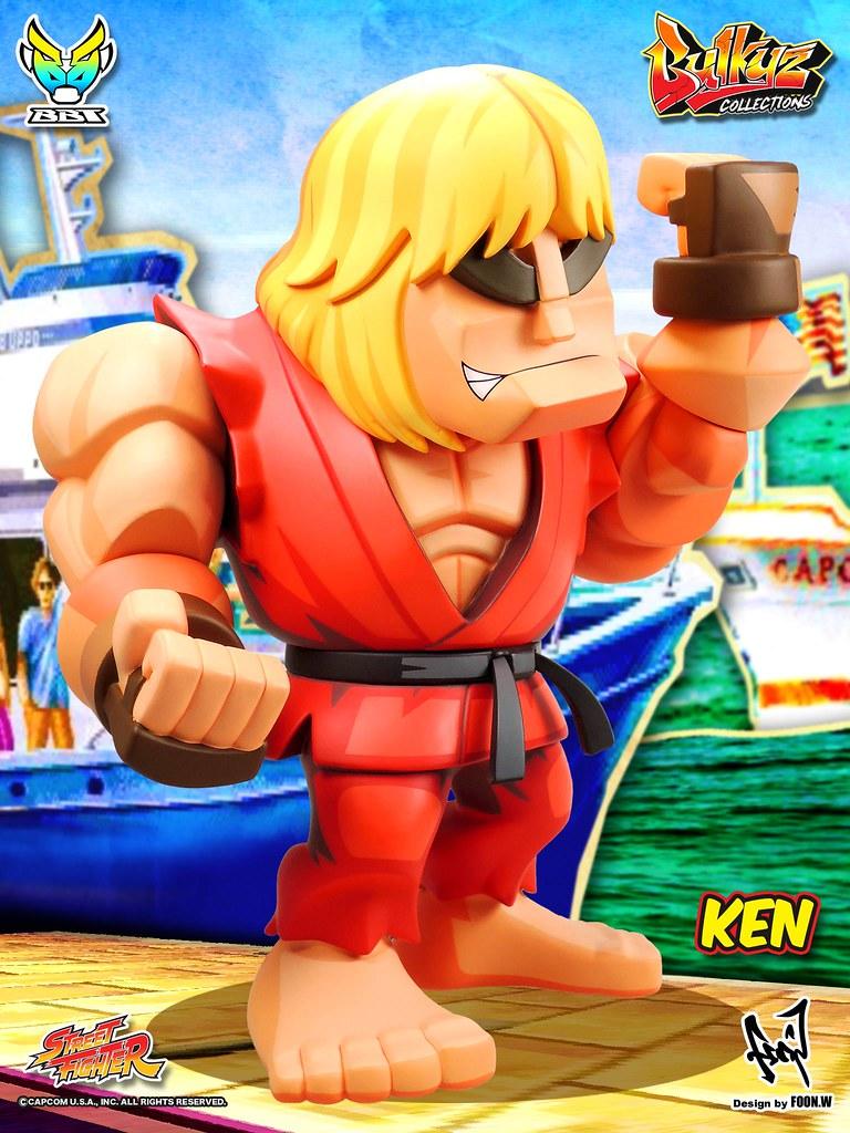 「官圖&販售資訊更新!」永遠的紅人! BigBoyToys Bulkyz Collection 系列 第二彈 快打旋風【肯】Street Fighter Ken