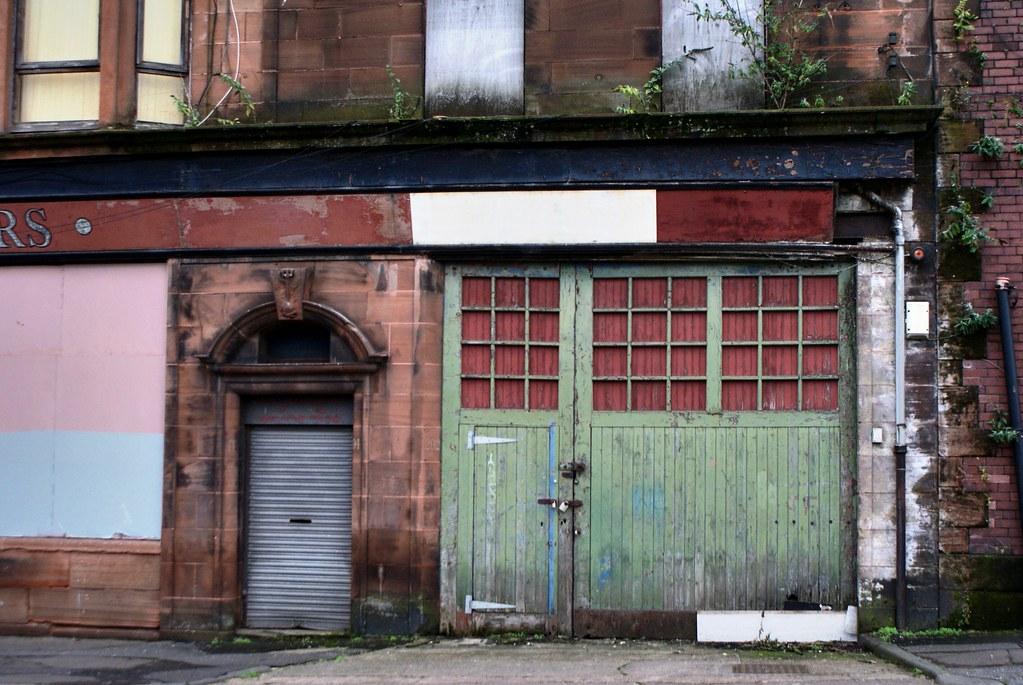 Immeuble vide dans l'East End à Glasgow.