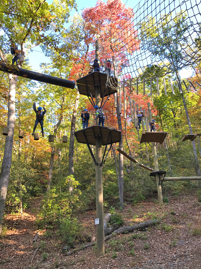 Tackling the Ropes Course at Ridgecrest