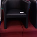 Black leather tub chair E60