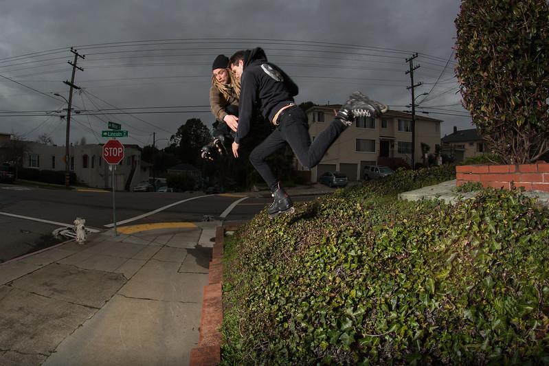 Michael Braud & Cameron Talbott / Double Gap 180's attempt / Oakland