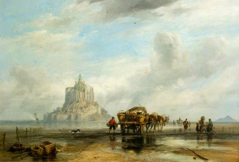 Mont Saint Michel, Normandy by Edward William Cooke, R.A., 1838