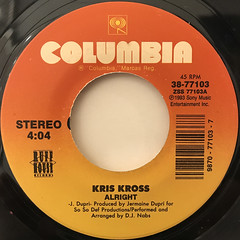 KRIS KROSS:ALRIGHT(LABEL SIDE-A)