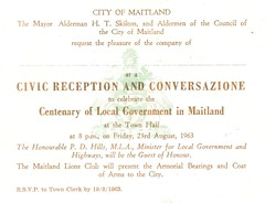 Centenary of Local Government, Maitland, N.S.W.