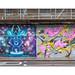 Street Art (Marina Zumi, Frankie Strand & Itaewon), East London, England.