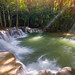 Amazing beautiful waterfalls in tropical forest at Huay Mae Khamin Waterfall Level 2