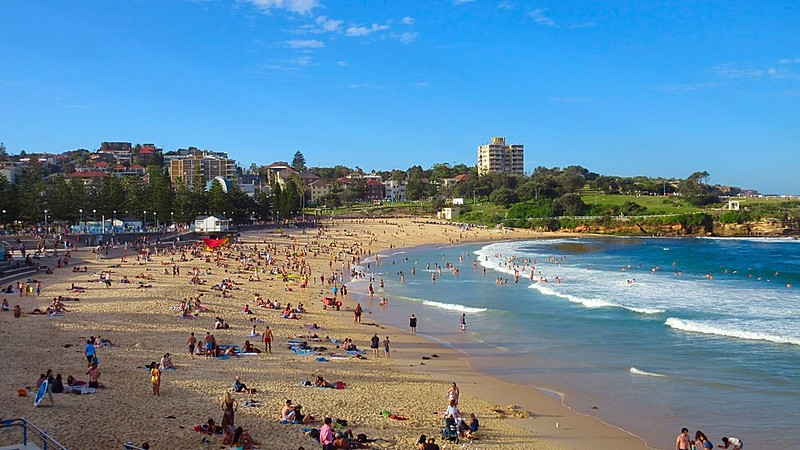 Busy Chaotic Coogee Beach Sydney