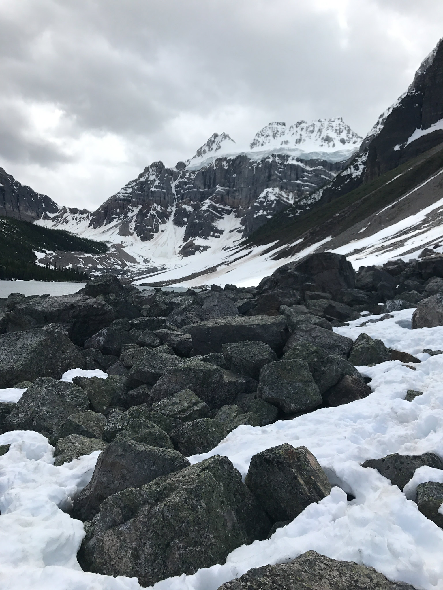 Snow at Consolation Lakes in June