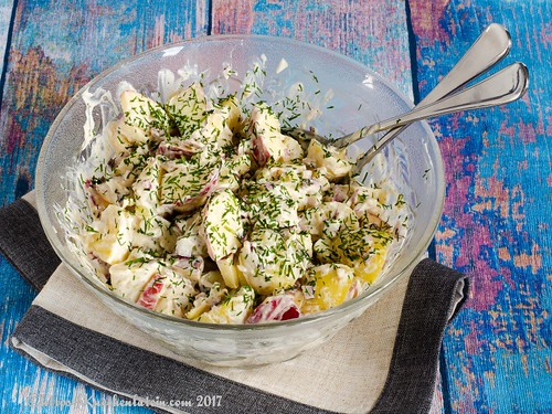 Apple, potato and red onion salad (2)