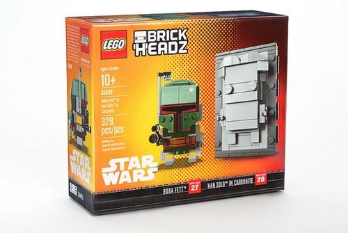 LEGO BrickHeadz NYCC 2017 Boba Fett & Han Solo in Carbonite (41498)