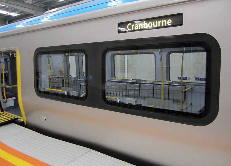 New train mock-up: Side of carriage will have a destination sign