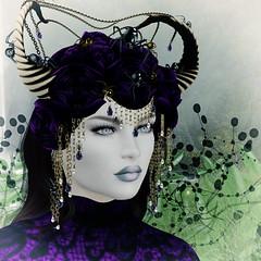 Lilith Spider headdress, Zuri Jewelry