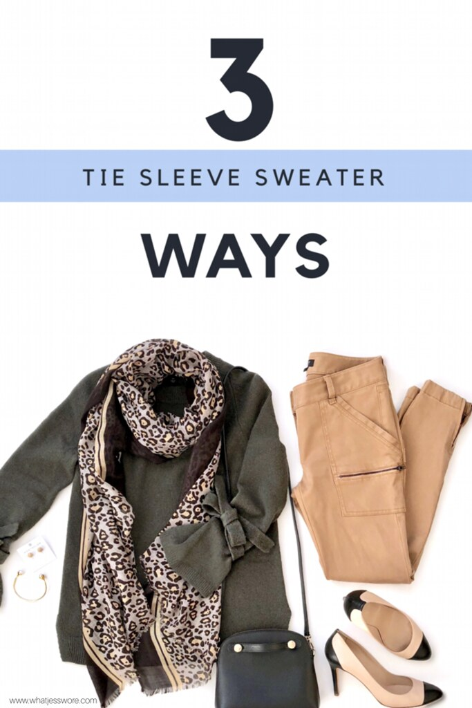 Tie Sleeve Sweater Styled 3 Ways on www.whatjesswore.com