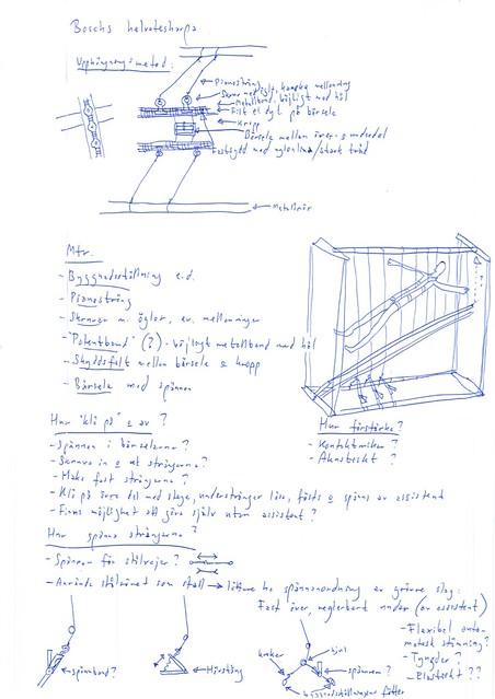 Sketching Bosch's Hell Harp