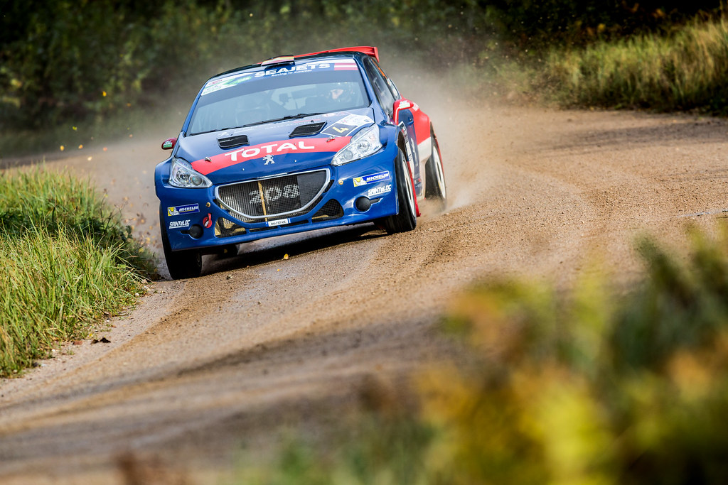 04 Lopez Pepe and Rozada Borja, Peugeot Rally Academy, Peugeot 208 T16, ERC Junior U28 action during the 2017 European Rally Championship ERC Liepaja rally,  from october 6 to 8, at Liepaja, Lettonie - Photo Thomas Fenetre / DPPI