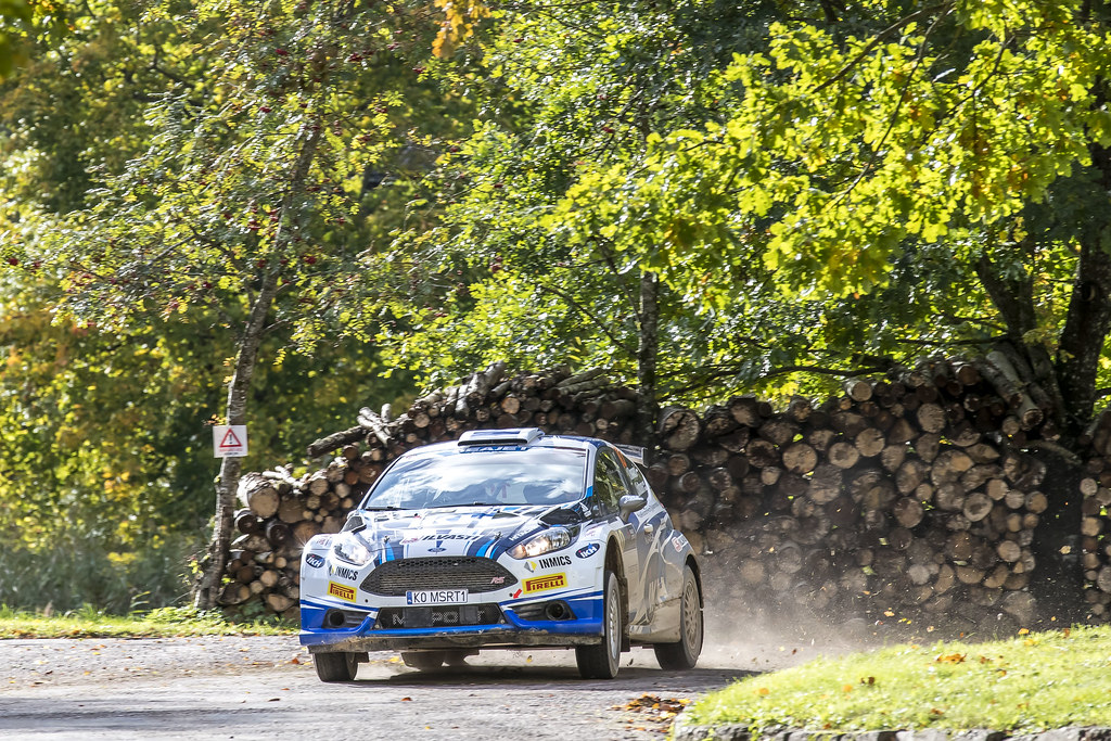 10 Rovanpera Kalle and Halttunen Jonne, Ford Fiesta R5 action during the 2017 European Rally Championship ERC Liepaja rally,  from october 6 to 8, at Liepaja, Lettonie - Photo Gregory Lenormand / DPPI
