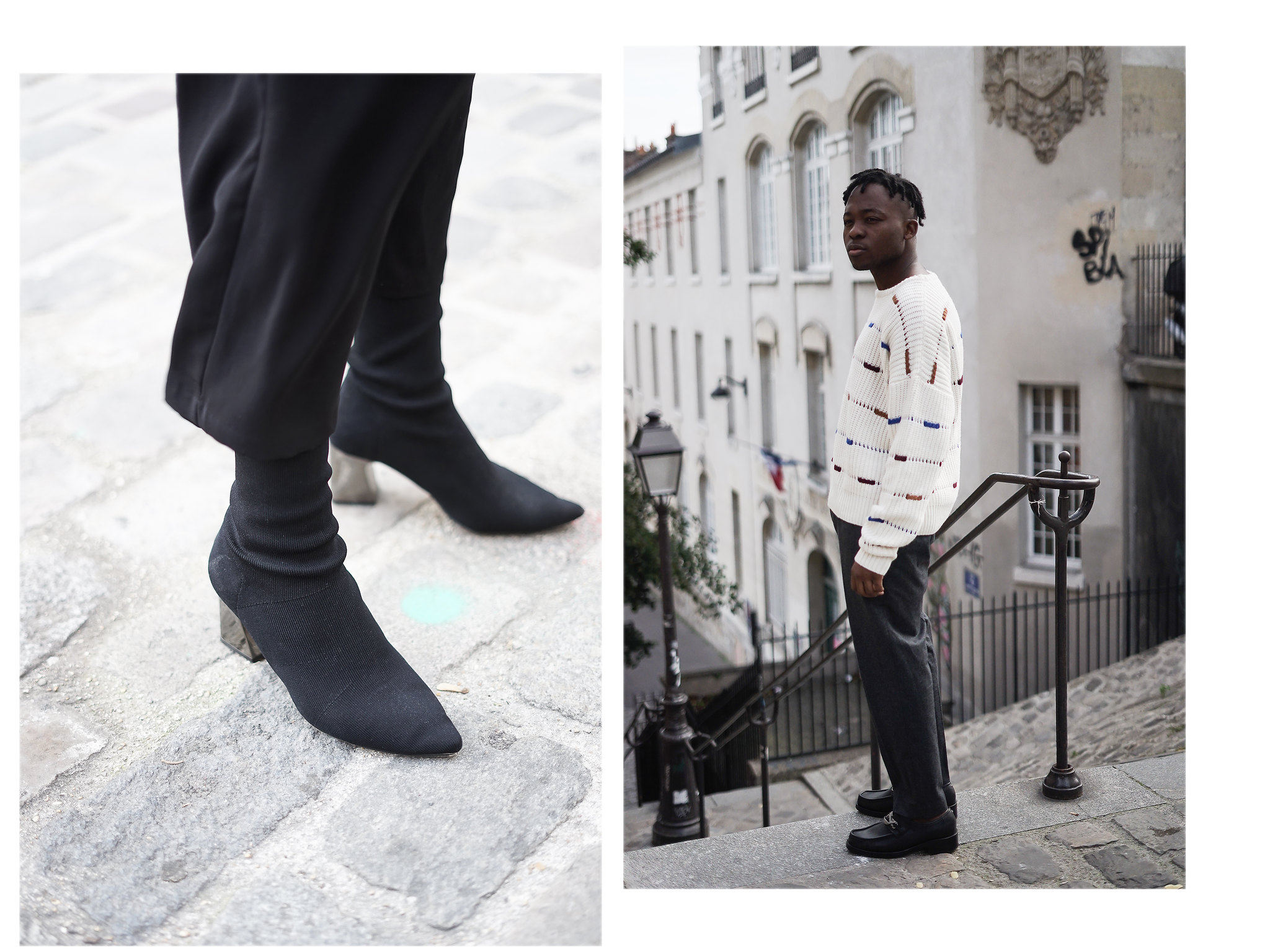 look couple mode paris streetstyle zara cos margiela martin margiela