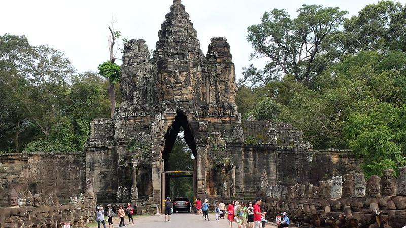Entrada a Angkor Tomh