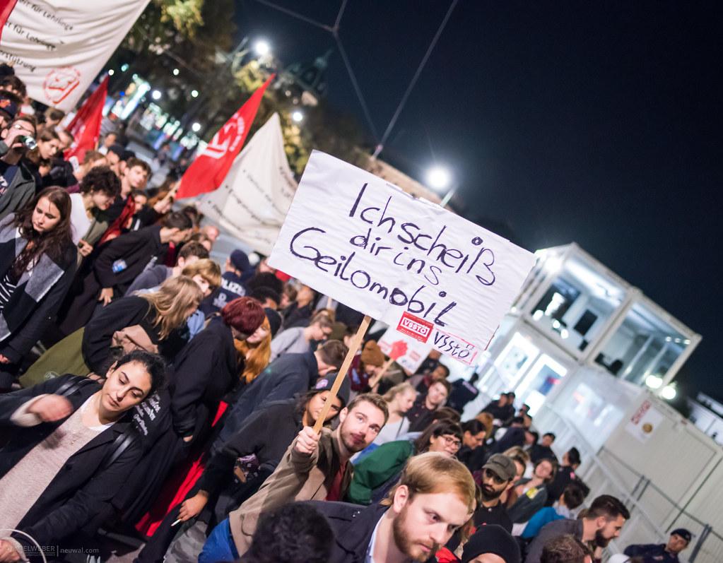 #GegenSchwarzBlau Demo am Wahlabend in #Wien