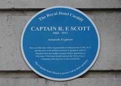 Photo of Robert Falcon Scott blue plaque