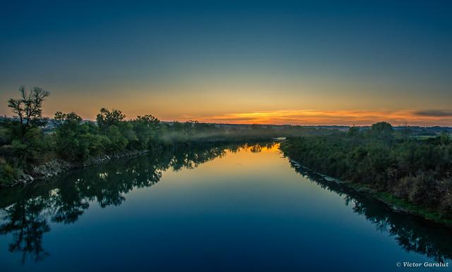 Ebro desde la Pasarela de Pastriz.